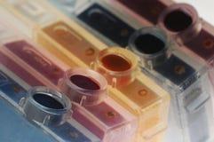 färgpulverbehållare Arkivfoton