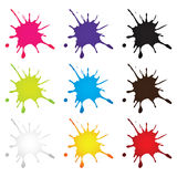 Färgpulverdroppe Royaltyfria Bilder