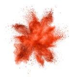 Färgpulverexplosion som isoleras på vit fotografering för bildbyråer