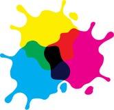 Färgpulverfärgstänk royaltyfri illustrationer