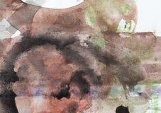 Färgpulverfläckar på vitbok Arkivfoton