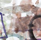 Färgpulverfläckar på vitbok Royaltyfria Bilder