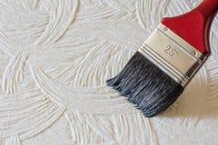 Färgpulvermålarfärgborste Royaltyfri Bild