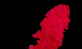 Färgpulvermoln, abstrakt begrepp, bakgrund Fotografering för Bildbyråer
