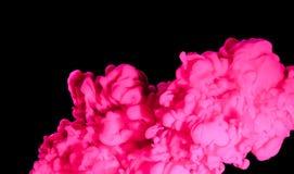 Färgpulvermoln i vatten Royaltyfri Bild