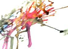 färgpulverspill stock illustrationer
