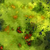 Färgpulverspill på anteckningsboken Ljusa slaglängder Färgpulverspillkonstverk Dry som inking yttersida vektor illustrationer