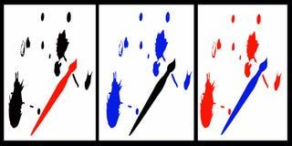 färgpulversplats vektor illustrationer