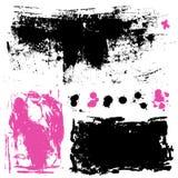 Färgpulversplatters. Samling för Grungedesignbeståndsdelar. Royaltyfri Fotografi
