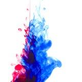 färgpulvervatten Arkivbilder