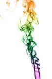 Färgrök på svart bakgrund Arkivfoton