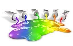 färgrör Arkivfoto