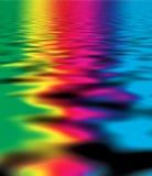 färgreflexionsvatten stock illustrationer