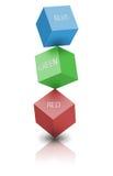 färgrgb-avstånd Arkivbilder