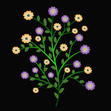 färgrik à¸'bunchblomma royaltyfri illustrationer