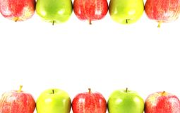 färgrik äpplekant Arkivfoton