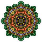 Färgrik åttahörnig mandala Colorized diagramrosett Symmen Royaltyfri Foto