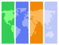 färgrik översiktsvärld Royaltyfri Bild
