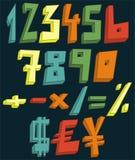 Färgrik 3d numrerar Royaltyfri Illustrationer