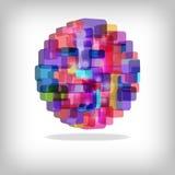 färgrik abstrakt bakgrund 3d Arkivfoto