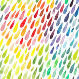 Färgrik abstrakt bakgrund för vattenfärg Samling av målarfärgspl Arkivfoto