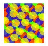 Färgrik abstrakt bakgrund från cirklar vektor illustrationer