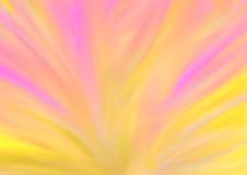 Färgrik abstrakt bakgrund i guling- och rosa färgsignaler Royaltyfri Bild