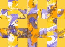 Färgrik abstrakt bakgrund med band Royaltyfria Bilder