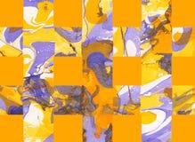 Färgrik abstrakt bakgrund med band Arkivbilder
