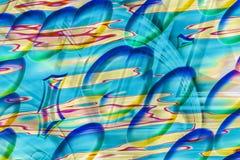 Färgrik abstrakt bakgrund med sommarkänslor Arkivbild