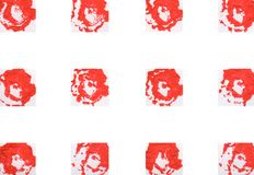 Färgrik abstrakt bakgrund med stämplar Arkivfoto
