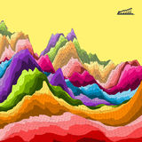färgrik abstrakt bakgrund Mosaisk vektor Royaltyfria Foton