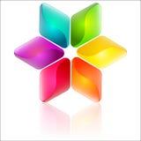 Färgrik abstrakt blom- design Arkivbilder
