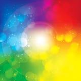 Färgrik abstrakt Bokeh vektorbakgrund Arkivbild