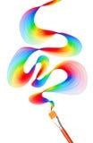Färgrik abstrakt borstebakgrund Fotografering för Bildbyråer