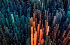 Färgrik abstrakt cuboidslandskaptapet eller bakgrunder eller bakgrund royaltyfri illustrationer