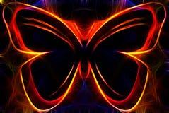 färgrik abstrakt fjäril Royaltyfri Foto