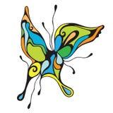 färgrik abstrakt fjäril Royaltyfria Bilder