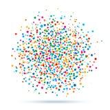 Färgrik abstrakt fläck av prickar vektor illustrationer