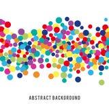 Färgrik abstrakt fläckbakgrund Arkivbild