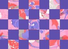 Färgrik abstrakt geometrisk bakgrund med fyrkanter Arkivbilder