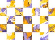 Färgrik abstrakt geometrisk bakgrund med fyrkanter Royaltyfri Fotografi