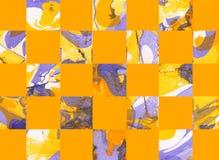 Färgrik abstrakt geometrisk bakgrund med fyrkanter Royaltyfri Bild