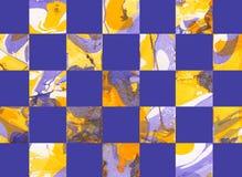 Färgrik abstrakt geometrisk bakgrund med fyrkanter Arkivfoton