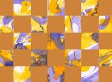 Färgrik abstrakt geometrisk bakgrund med fyrkanter Royaltyfria Foton