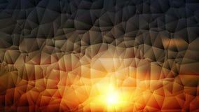 Färgrik abstrakt geometrisk låg poly video animering arkivfilmer