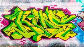 Färgrik abstrakt grafittivärld Arkivbild