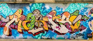 Färgrik abstrakt grafittivärld Fotografering för Bildbyråer