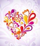 Färgrik abstrakt hjärta. Vektor stock illustrationer