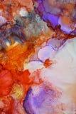 Färgrik abstrakt målningtextur Royaltyfria Bilder
